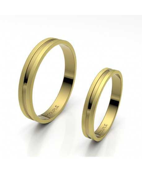 Alianza Trend Plana Oro Amarillo de 3mm
