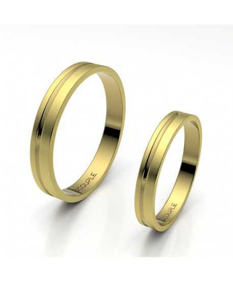 Alianza oro amarillo, mate de 3 mm de...