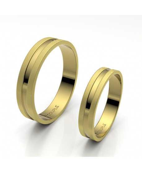 Alianza Trend Plana Oro Amarillo de 4mm