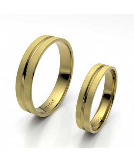 Alianza Trend Oro Amarillo de 4mm