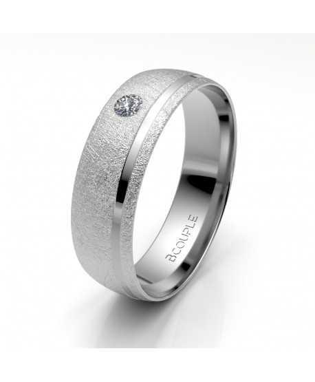 Alianza Diamante de Oro Blanco 5,5mm