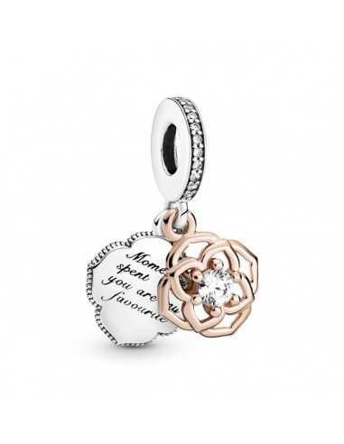 Charm Colgante Pandora Rose Flor Rosa...