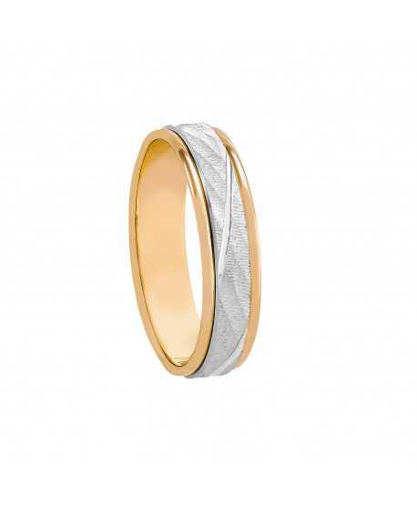 Alianza Fusion Oro Bicolor de 5mm