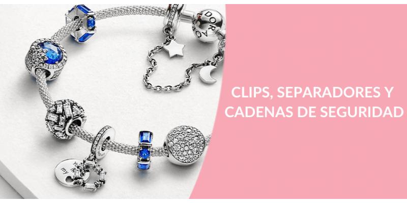 Clips, Separadores y Cadenas de Seguridad Pandora